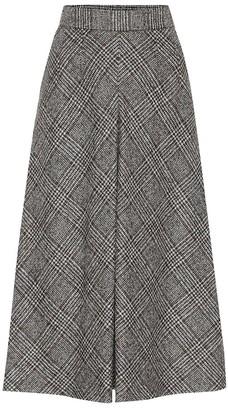 Dolce & Gabbana Checked high-rise wool-blend skirt