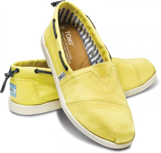 Toms Yellow nautical women's biminis