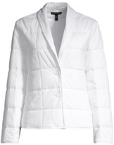 Eileen Fisher Organic Cotton Shawl Collar Quilted Jacket