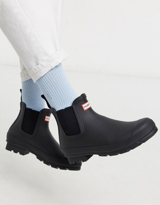 Hunter chelsea boots in black
