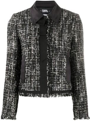 Karl Lagerfeld Paris Boucle Sparkle Jacket