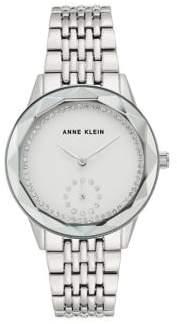 Anne Klein Silvertone & Swarovski Crystal Watch