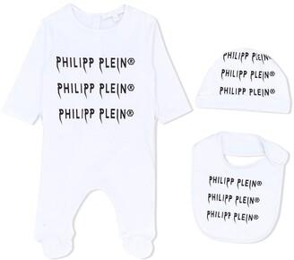 Philipp Plein Logo Print Babygrow Set