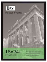 Dax Flat Face Wood Poster Frame, Clear Plastic Window, 18 x 24, Black Border, Sold as 1 Each