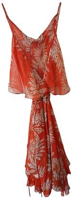 Diane von Furstenberg Orange Silk Dresses