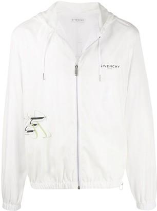Givenchy White Floral Windbreaker Jacket
