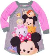 Disney Tsum Tsum Girls Long Sleeve Nightgown Pajamas