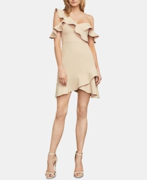 BCBGMAXAZRIA Malik Asymmetrical Off-The-Shoulder Dress