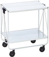 Leifheit Side Car Collapsible Serving and Equipment Trolley - White