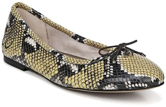Sam Edelman Felicia Snakeskin Embossed Leather Ballet Flat
