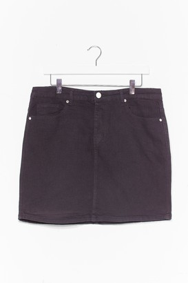 Nasty Gal Womens Be There in a Mini Plus Denim Skirt - Black