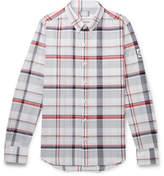 Moncler Gamme Bleu Slim-Fit Button-Down Collar Checked Cotton-Poplin Shirt