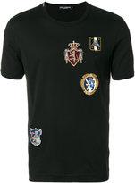 Dolce & Gabbana crest patch appliqué T-shirt