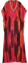 Matthew Williamson Embellished Printed Silk-Chiffon Gown