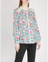 BA&SH Hopeful floral-print woven shirt