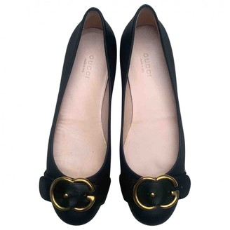 Gucci Black Leather Ballet flats