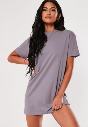 Missguided Tall Lilac Basic T Shirt Dress