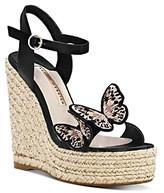 Sophia Webster Women's Riva Butterfly Wedge-Heel Espadrille Sandals
