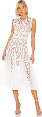 Bronx and Banco Saba Blanc Midi Dress