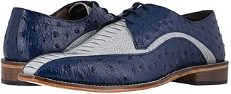 Stacy Adams Trevi Bike Toe Oxford (Dark Blue/Light Blue) Men's Shoes