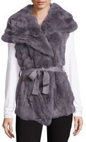 Alberto Makali Fur Knit-Back Vest