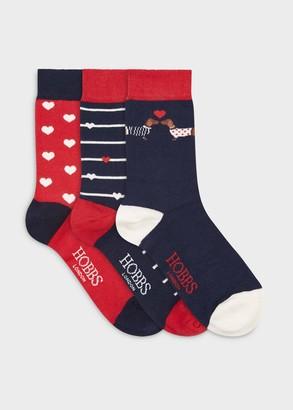 Hobbs Valentine Dog Sock Set