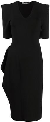 Stella McCartney Structured Shoulder Knee-Length Dress