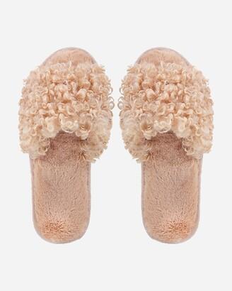 Express Memoi C'Est Bon Plush Slippers