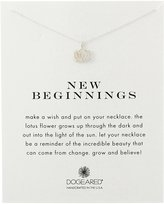 """Dogeared Reminder New Beginnings Sterling Rising Lotus Pendant Necklace, 18.4"""""""