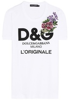 Dolce & Gabbana Embroidered printed cotton T-shirt