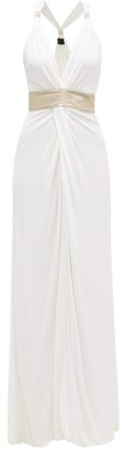 Dundas Crystal-embellished Knotted-front Gown - White