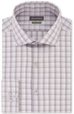 Van Heusen Men's Slim-Fit Non-Iron Stretch Plaid Dress Shirt