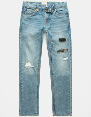 Levi's 502 Regular Taper Fit Boys Ripped Jeans