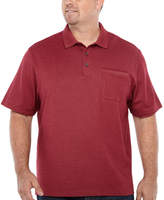 Van Heusen Flex Solid Tipped Polo Short Sleeve Knit Shirt Big and Tall