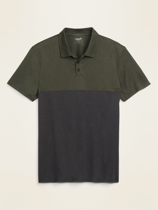 Old Navy Go-Dry Cool Odor-Control Color-Blocked Core Polo for Men