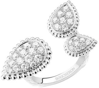 Boucheron Serpent Boheme 18K White Gold & Diamond Ring