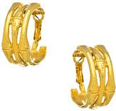 Harrison Morgan Triple Gold Bamboo Hoop Earrings