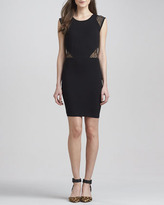 French Connection Vienna Lace-Inset Jersey Dress