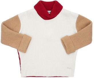 Simonetta Virgin Wool Blend Knit Sweater