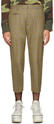 R 13 Brown Tailored Drop Trousers