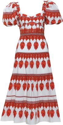 Johanna Ortiz Culture Puff-Sleeve Printed Cotton Midi Dress