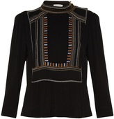 Etoile Isabel Marant Cerza embroidered crepe top