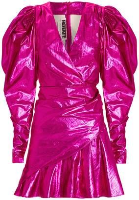 Rotate by Birger Christensen No. 24 Raspberry Metallic Mini Dress