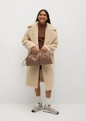 MANGO Faux shearling oversized coat