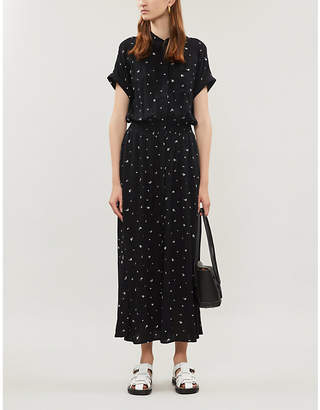 The White Company Floral-pattern woven dress