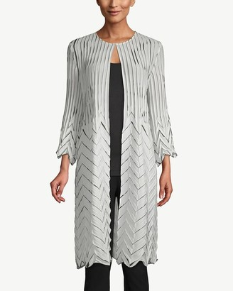 Travelers Collection Pleated Cardigan Jacket