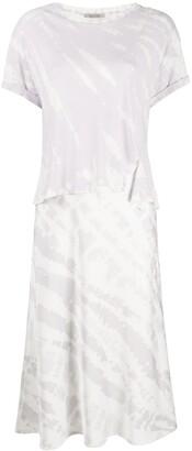 AllSaints abstract-print layered T-shirt dress
