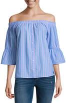 U.S. Polo Assn. 3/4 Sleeve Poplin Dress Shirt Juniors