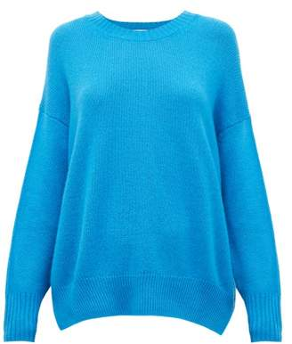 Allude Draped Cashmere Sweater - Womens - Dark Blue