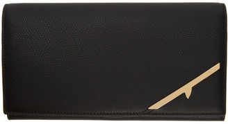 Fendi Black Corner Bugs Continental Wallet